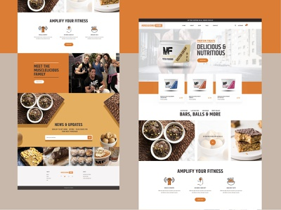 Landing page - Musclelecious Food ux ui sopify product landingpage interface healthyfood food delivery colorful clean bodybuilding