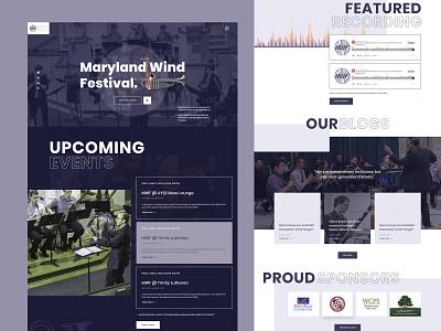 Landing Page - Maryland Wind Festival website web ux ui musician music landingpage event donate clean