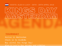 Kings day Agenda