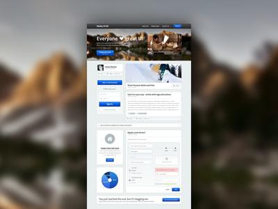 Sleeky UI kit ui kit creatve interface psd premium button form box