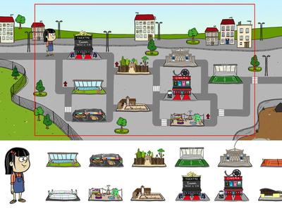 Find the... gamedesign illustration
