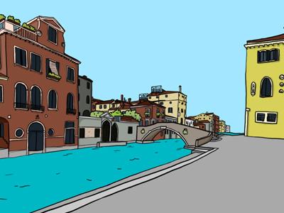 """Venise """"find the..."""" gamedesign illustration"""