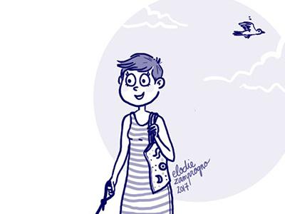 Blue Girl illustration