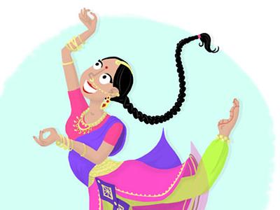 Indian dancer illustration