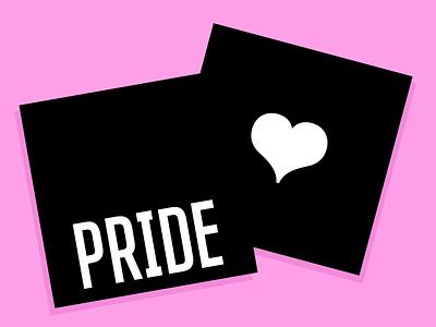 pride rise heartbeat rainbow minimalist typogaphy type pride month pride 2020 pridemonth pride vector animation loop motion