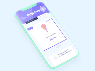 App Punchy 🤜🍗->🥦 datavizualisation data application dashboard purple punch vegan interface ux ui app