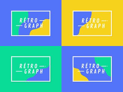Retrograph – Website organic fluid logo typohraphy exhibition blue branding identity webdesign ui