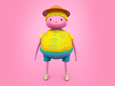Character design — Bon Voyage! video game tourist colorful design plastic fun 3d character travel