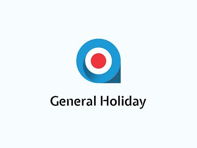 Tour Agency Logo brand identity pin red blue holiday agency tourism branding logo
