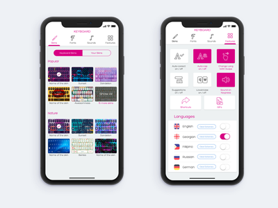 Keyboard Skins skins options mobile iphone x settings ios keyboard