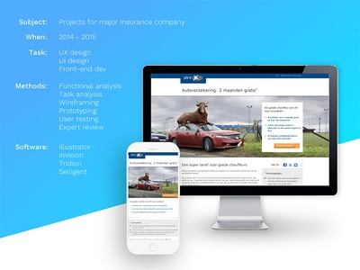 Use case for an insurance company