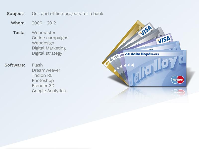use cases for Delta Lloyd Bank digital marketing analytics webmastering web design visual design ui