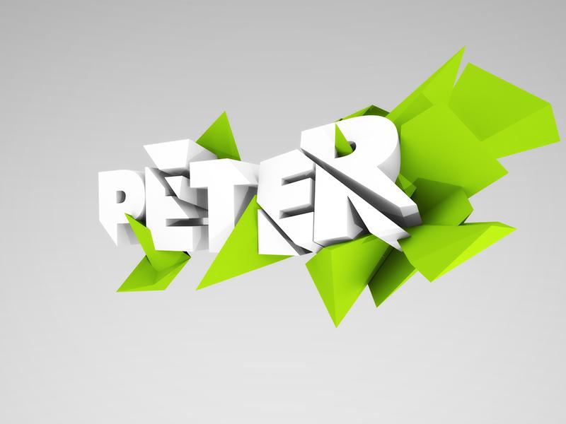 Polygon logo 3d blender polygon logo