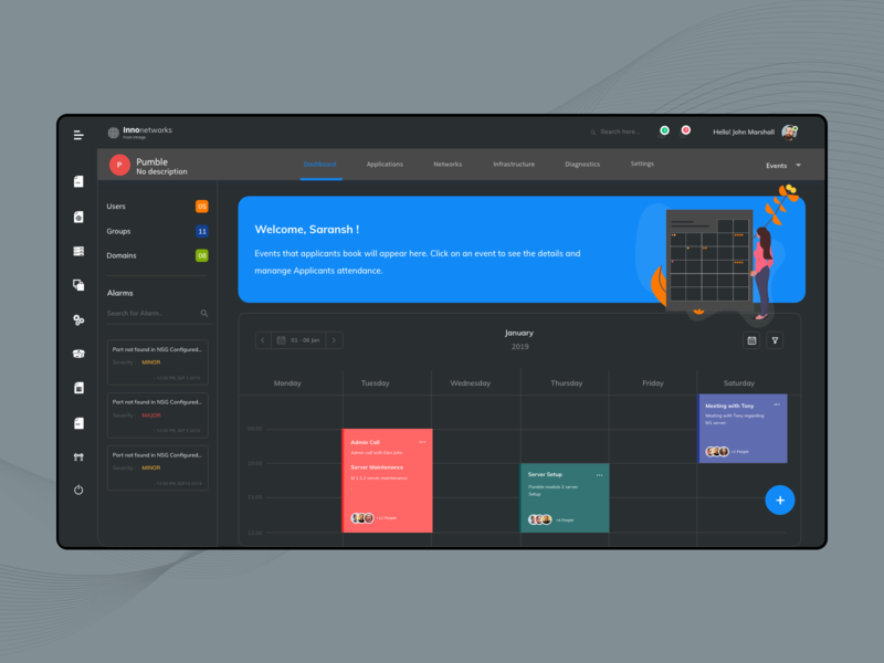 Dark Dashboard calendar dashboard app xd red black night mode dark event graph analytics dashboard business enterprise white design clean ui ux ui