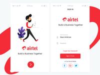 Airtel Login UI
