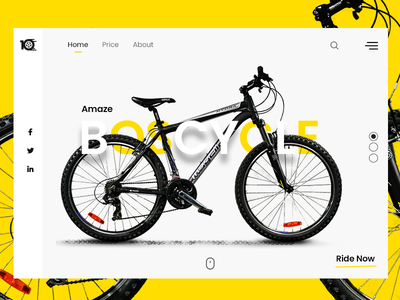 BOS-Cycle Product Page yellow cycle product branding product page product creative business enterprise white design clean ui ux ui