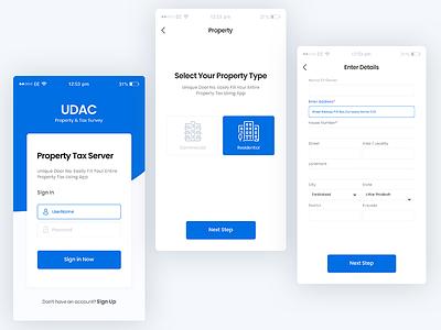 Mobile UI forms select form procreate login signup register property blue form business enterprise white design clean ui ux ui