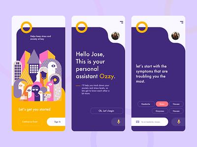 App UI splash signup login card ui creative product branding app ui purple yellow ios product design branding illustration enterprise design clean ui ux ui