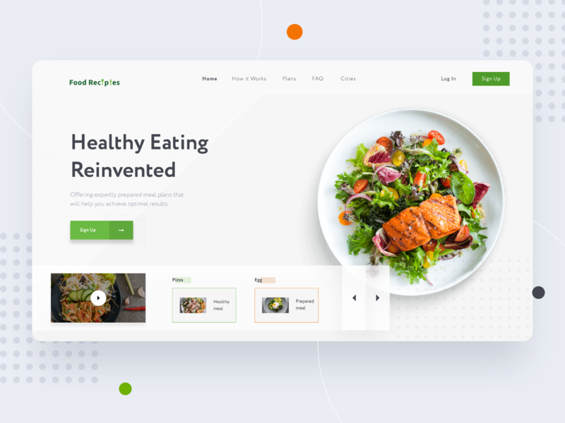 Landing Page_Header header website food order food delivery online delivery food website food product design business white design clean ui ux ui