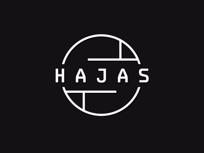 Hajas logo v2 salon hairdresser simple clean branding logo