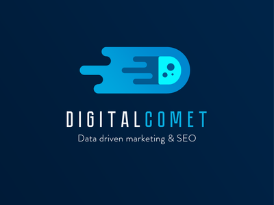 DigitalComet logo digital agency d letter logo comet blue logo