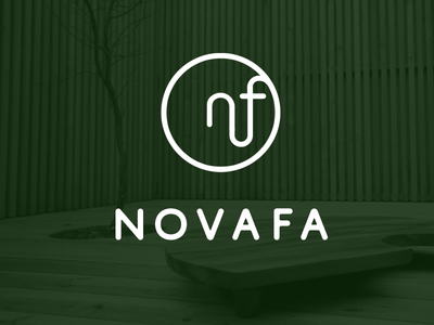 Novafa logo v1 wood furniture modern logo simple clean