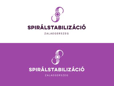 Spiralstabilizáció/Spiral Stabilization logo muscles spiral form yoga spine feminine logo logo design