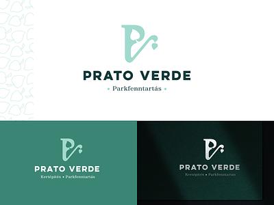Prato Verde logo gardening plant green nature branding logo