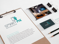 SmartMe logo concept - smart home profile