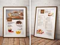 Bakery price table (crepes)