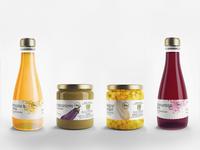Bio drink and jar label design