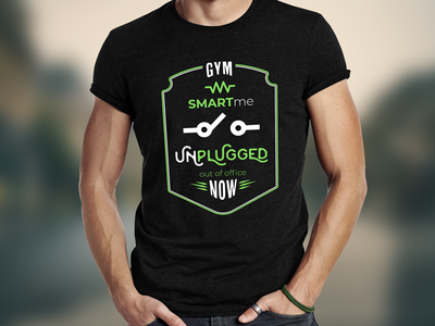 T-shirt design smart out of office gym funny