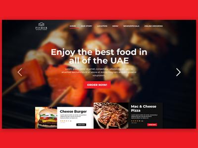 Restaurant landing designer photoshop ui restaurant web design