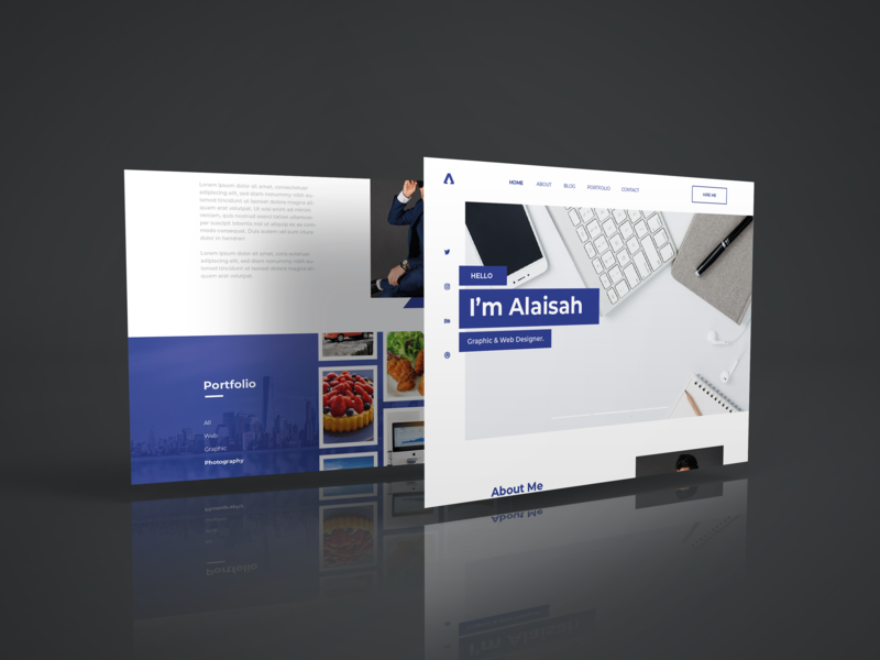 Portfolio Website portfolio design mockup web design