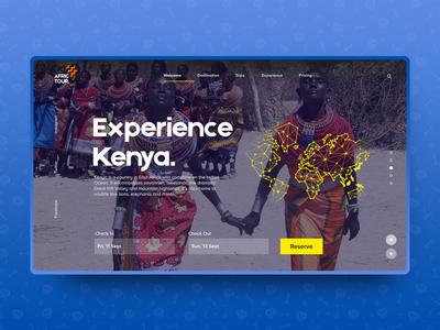 AfriTour website web design graphic design