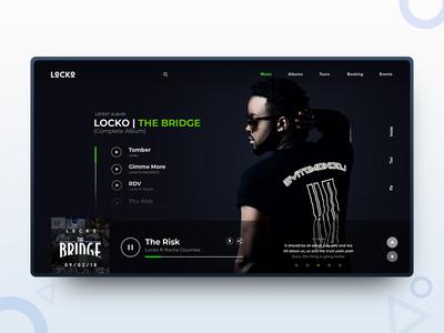 LOCKO | Artist landing page web page designer landing page graphic design web design