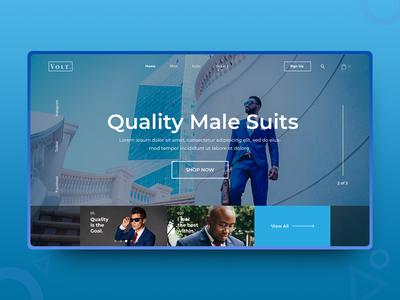 Volt. minimalist e-commerce shopping landing page web design website uiux