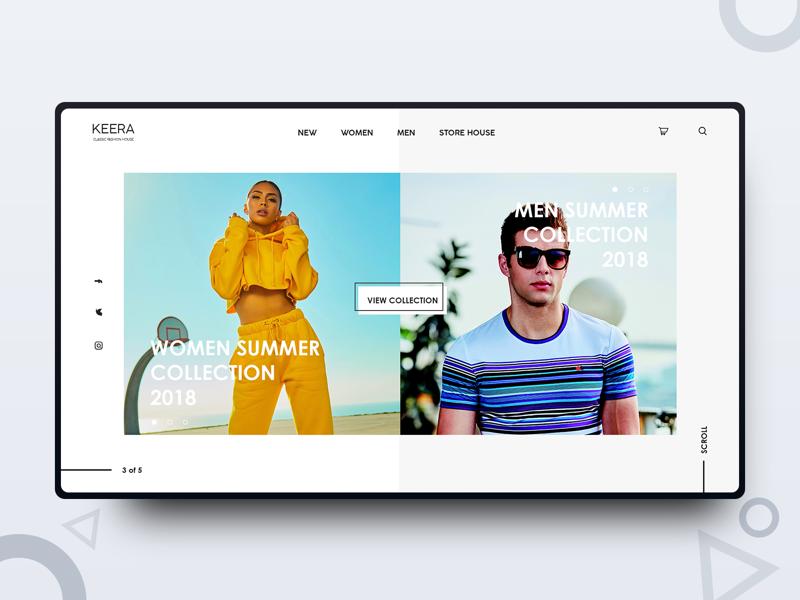 Keera freelance designer web design uiux ui design photography minimalism minimal interface graphics design design inspiration daily design clean