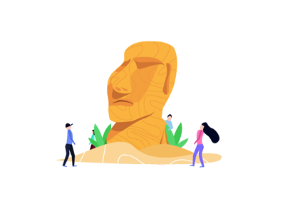 Tiki head adobe illustrator design easter island graphic design illustration illustrator