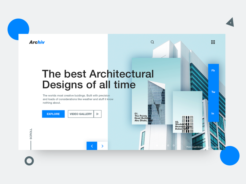 Archiv typography website landing page designer adobe photoshop uiux web design freelance designer ui design photography minimal interface graphic design design inspiration clean monday