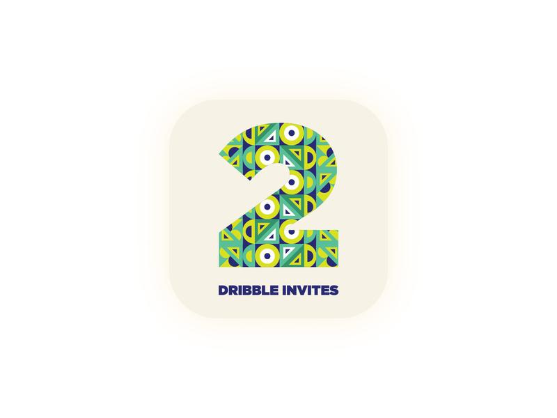 2 Dribble Invites design inspiration freelance designer clean invation player illustrator graphic designer graphic design invites