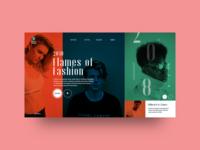 Fashion Website website ui typography photography design adobe illustrator landing page freelance designer clean uiux design inspiration graphic design web design