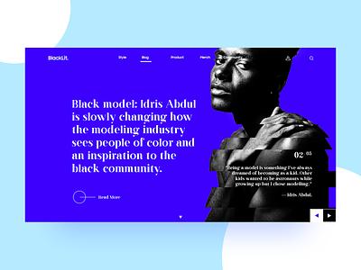 BlackLit blogdesign blog landing page designer minimal freelance designer illustration adobe illustrator design inspiration clean uiux graphic design web design