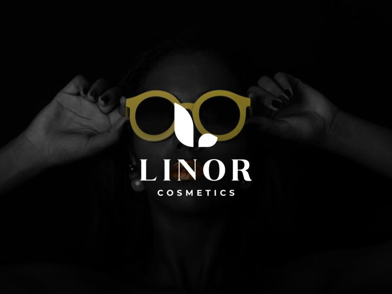 Linor Cosmetics typography branding freelance designer adobe illustrator vector designer minimal clean photography design inspiration graphic design logo
