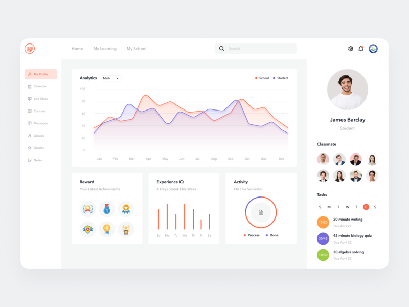 Student Management System for Educational Organizations ux ui product design dashboard design dashboard ui dashboad organization education app education management system management app managment student apps design design app apps website minimal clean