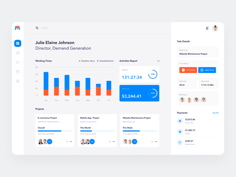 Employee Engagement and Performance Management Software dribbble data visualization data software design software management app managment employee engagement saas app saas dashboard app dashboard ui dashboad landing page design website minimal clean ux ui