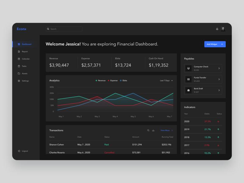 Financial Management Software design apps website minimal clean ux ui dashboard design dashboard app dashboard ui dashboad accounting software
