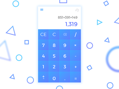 Calculator App UI Design #DailyUI004