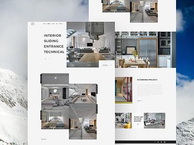 Interior Design Landing Page UI Design portfolio onepage landscape design interior design house gallery furniture design exterior design creative business building architecture
