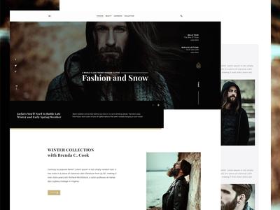 Fashion Ware Website Landing Page UI Design